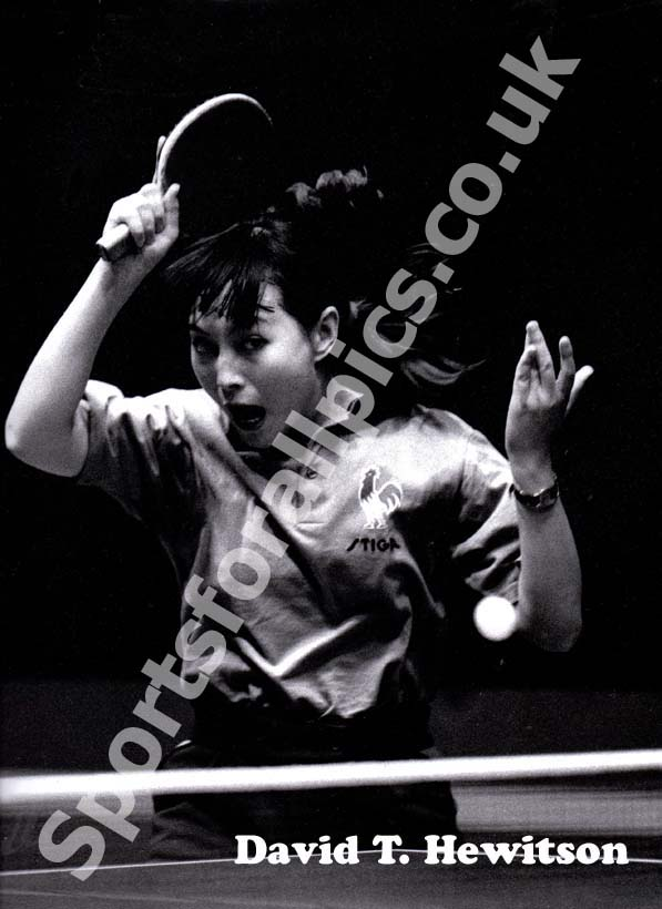 Northern Sports Photographer Award winning photograph of table tennis player. Photo: David T. Hewitson/Sports for All Pics