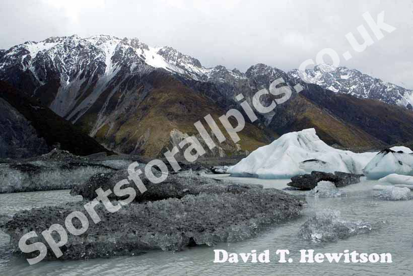 Meuller Glacier, Mount Cook, New Zealand.