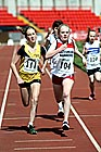 111 Amilia Leslie (Jarrow) and 104 Ellie Mahon (Gateshead), 2011 North East Champs, Gateshead