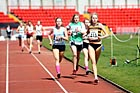 316 Sophie Montgomery (Blaydon), 949 Charlotte Ramsey (Blyth) and 322 Emma Wortley (Mandale), 2011 North East Champs, Gateshead