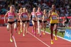 Abeba Aregawi (Swe) wins the 1500 metres at the IAAF Diamond League, Birmingham.