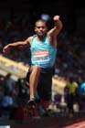 Benjamin Compaore (France), triple jump at the IAAF Diamond League, Birmingham.