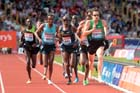 Chris Thompson (GB) leads the 5000 metres at the IAAF Diamond League, Birmingham.