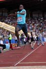 Dwight Phillips (GB), long jump at the IAAF Diamond League, Birmingham.