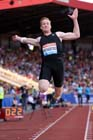Greg Rutherford (GB), long jump at the IAAF Diamond League, Birmingham.