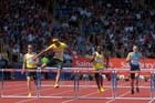 javier Culson (PUR) on his way to winning the 400 metres hurdles in the IAAF Diamond League, Birmingham.