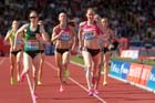 Laura Weightman (GB) finishing 4th in the 1500 metres at the IAAF Diamond League, Birmingham.