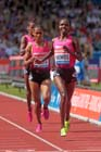 Milcah Chemos (Ken) wins the 3000 metres steeplechase at the IAAF Diamond League, Birmingham.