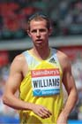 Rhys Williams (GB) 2nd in the 400 metres hurdles at the IAAF Diamond League, Birmingham.
