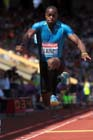 Samyr Laine (Haiti), triple jump at the IAAF Diamond League, Birmingham.