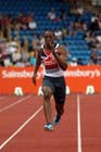 James Dasaolu breaking 10 seconds in the 100 metres at the Sainsbury's British Championships, Birmingham.