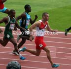 Richard Kilty in the heats of the 100 metres at the 2014 Commonwealth Games, Glasgow. Photo: David T. Hewitson/Sports for All Pics