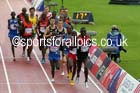 Isiah Koech (Kenya) leads the 5000 metres, 2014 Commonwealth Marathon, Glasgow. Photo: David T. Hewitson/Sports for All Pics