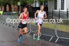 Andrew Davies (Wales) and Ross Houston (Scotland) in the mens Commonwealth Games Marathon, Glasgow. Photo: David T. Hewitson/Sports for All Pics