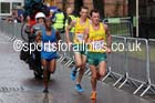 Liam Adams leads Michael Shelley (both Australia) in the mens Commonwealth Games Marathon, Glasgow. Photo: David T. Hewitson/Sports for All Pics