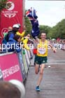 Michael Shelley (Australia) wins the mens Commonwealth Games Marathon, Glasgow. Photo: David T. Hewitson/Sports for All Pics