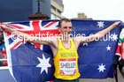 Michael Shelley (Australia) winner of the mens Commonwealth Games Marathon, Glasgow. Photo: David T. Hewitson/Sports for All Pics