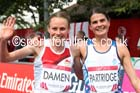 Louise Damen (England) and Susan Partridge (Scotland) womens Commonwealth Games Marathon, Glasgow. Photo: David T. Hewitson/Sports for All Pics
