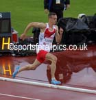 Niall Flannery (England) in the final of the 400 metres hurdles, 2014 Commonwealth Games, Glasgow. Photo: David T. Hewitson/Sports for All Pics