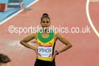 Kaliese Spencer (Jamaica) after winning the 400 metres hurdles at the Commonwealth Games, Glasgow. Photo: David T. Hewitson/Sports for All Pics