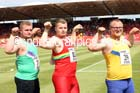 Inter boys shot, 2015 English Schools Track and Field Champs., Gateshead Stadium. Photo: David T. Hewitson/Sports for All Pics