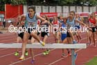 Inter girls 1500 metres steeplechase, 2015 English Schools, Gateshead. Photo: David T. Hewitson/Sports for All Pics