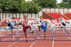 Junior boys 80 metres hurdles, 2015 English Schools Track and Field Champs., Gateshead Stadium. Photo: David T. Hewitson/Sports for All Pics