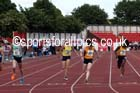 Junior girls 100 metres, 2015 English Schools Track and Field Champs., Gateshead Stadium. Photo: David T. Hewitson/Sports for All Pics