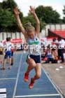 Junior girls long jump, 2015 English Schools Track and Field Champs., Gateshead Stadium. Photo: David T. Hewitson/Sports for All Pics