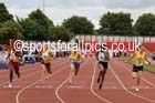 Senior girls 100 metres, 2015 English Schools, Gateshead. Photo: David T. Hewitson/Sports for All Pics