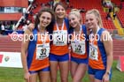 Senior girls 4 x 100 metres relay, 2015 English Schools, Gateshead. Photo: David T. Hewitson/Sports for All Pics