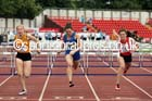 Inter girls 80 metres hurdles, 2015 English Schools, Gateshead. Photo: David T. Hewitson/Sports for All Pics