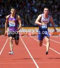 Adam Gemili (GB) and Richard Kilty (GB)  mens 100 metres heats, IAAF Diamond League, Birmingham. Photo: David T. Hewitson/Sports for All Pics