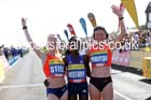 From left to right: Gemma Steel 2nd, Maray Keitany winner and Jelina Prokopcuka 3rd in the womens Morrisons Great North Run. Photo: David T. Hewitson/Sports for All Pics
