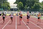 Under-15 girls 100 metres. Photo: David T. Hewitson/Sports for All Pics