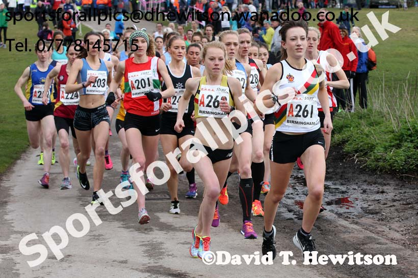 Senior womens English National 6 Stage Road Relay, 2016 English National 12 and 6 Stage Road Relays, Sutton Coldfield, Birmingham. Photo: David T. Hewitson/Sports for All Pics