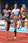 Christine Day (Jam) 2nd and Seren Bundy-Davies (GB) 4th in the womens 400 metres, IAAF Diamond League, Birmingham. Photo: David T. Hewitson/Sports for All Pics