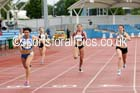 Womens under-20s 200 metres, Northern Championships, Sport City, Manchester. Photo: David T. Hewitson/Sports for All Pics