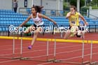 Womens under-20s 400 metres hurdles, Northern Championships, Sport City, Manchester. Photo: David T. Hewitson/Sports for All Pics