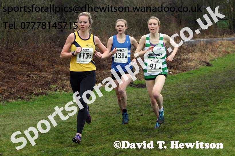 Senior and veteran womens Durham Cathedral Cross Country Relays, Maiden Castle, Durham. Photo: David T. Hewitson/Sports for All Pics