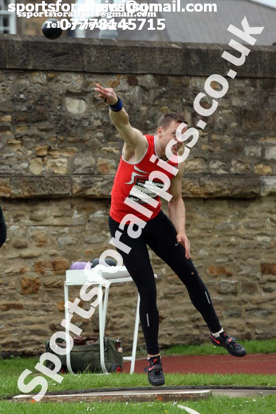 Mens decathlon shot putt, EAP International Cominted Events, Hexham. Photo: David T. Hewitson/Sports for All Pics