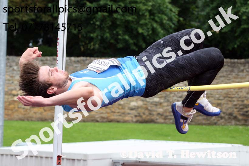 Mens decathlon high jump, EAP International Cominted Events, Hexham. Photo: David T. Hewitson/Sports for All Pics
