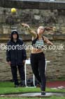 Womens heptathlon shot putt, EAP International Cominted Events, Hexham. Photo: David T. Hewitson/Sports for All Pics