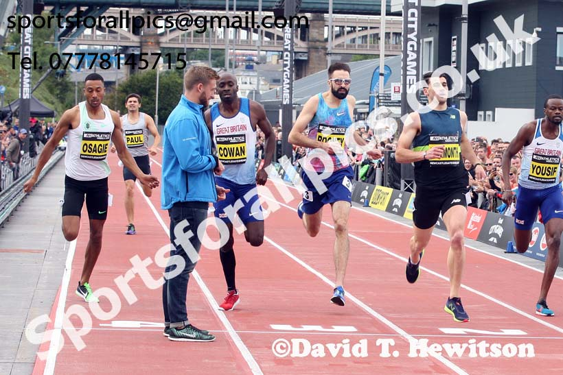 Mens 500 metres, 2017 Great North CityGames, Gateshead/Newcaste. Photo: David T. Hewitson/Sports for All Pics