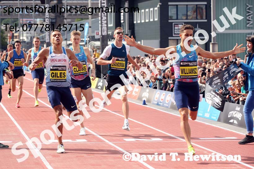 Men's mile, 2017 Great North CityGames, Gateshead/Newcaste. Photo: David T. Hewitson/Sports for All Pics