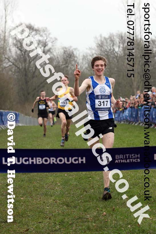 Mens under-20s Inter Counties Cross Country, Prestwold Hall, Loughborough. Photo: David T. Hewitson/Sports for All Pics