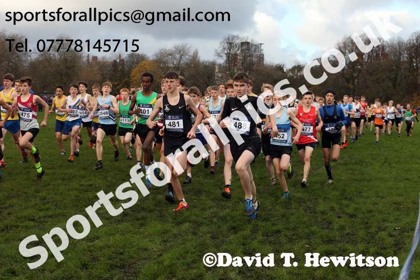 Boys under-15s 2017 British Athletics Liverpool Cross Challenge, Sefton Park, Liverpool. Photo:  David T. Hewitson/Sports for All Pics