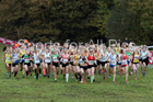 Womens under-17s National Cross Country Relay, Berry Hill Park, Mansfield. Photo:  David T. Hewitson/Sports for All Pics