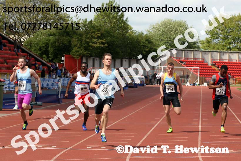 Mens senior 100 metres, North Eastern Champs, Gateshead Stadium. Photo: David T. Hewitson/Sports for All Pics