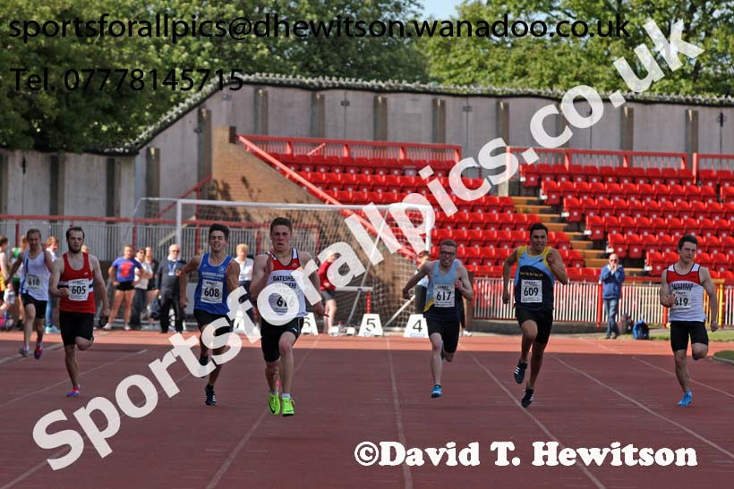 Mens under-20s 200 metres, North Eastern Champs, Gateshead Stadium. Photo: David T. Hewitson/Sports for All Pics